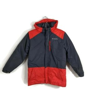 Columbia Youth Medium Winter Coat Red Gray